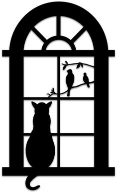 Animal – Silhouette – Art & Islamic Graphics.  Free for Personal Use.  No Commercial Use. #CatSilhouette