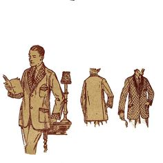 1910s Mens Smoking Jacket Butterick 4836 by JFerrariDesigns, $55.00