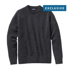 Patagonia Men\'s Reclaimed Wool Crewneck Sweater - Forge Grey FGE
