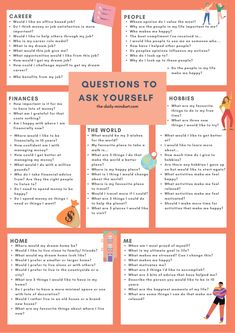 Montag Motivation, Vie Motivation, Journal Questions, Questions To Ask, Self Care Activities, Job Satisfaction, Journal Writing Prompts, Mental And Emotional Health, Self Improvement Tips