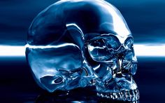 The History of the Crystal Skulls and Their Unsolved Mystery. An old native American legend describes the existence of thirteen ancient crystal skulls, the size of human skulls, with moveable jaws that were said to speak or sing. Skull Wallpaper, Dark Wallpaper, Skull Artwork, Cool Artwork, Native American Legends, Arte Alien, Devil Halloween, Skull Pictures, Blue Pictures
