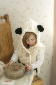 *** This listing is only a PDF PATTERN in ENGLISH and not a finished product ***  This is knitting pattern for hooded vest Sheep Sheridan. Knit this in alpaca or any other chunky yarn to keep the little one warm. This lovely garment will make a lovely gift and it will work up quick! Suitable for beginners as it is worked with basic stitches. You can use the same pattern for making a bear vest.  Sizes for 2-3y/4-5y/6-7y/8-10y/11-12y  Finished measurements are about (width x...