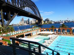 North Sydney Olympic Pool - surely the best view in the world to do backstroke