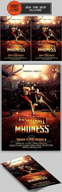 Basketball Flyer by ionescu_stefania 4×6 with 25. bleed, CMYK, 300 DPI Files included: 1 PSD ,Help File Model not included Fonts Used: Big Noodle Tiling http://www.daf