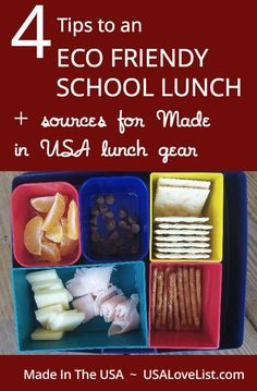 School lunch gear | American made lunch containers |  Water bottles made in USA