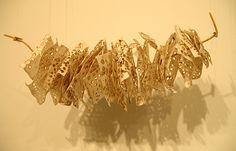 Ula Einstein visual artist, sculpture, installation, burn, fire, code, branch, installation