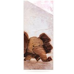 KESS InHouse The Elephant with the Long Ears by Rachel Kokko Painting Print Plaque