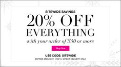 Sitewide Savings! 20% off everything with your $50 order  Use code:SITEWIDE at checkout #avonrep, #freeshipping, #buyavon