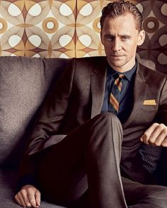 Tom Hiddleston suiting up in brown for GQ by ig:tomhiddlesnews