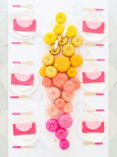 DIY Ombre Mini Pumpkin Centerpiece | Oh Happy Day! | Bloglovin'