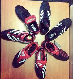 A selection of Adidas Predators: heaven.