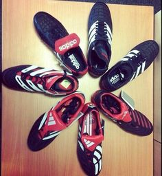A selection of Adidas Predators: heaven.