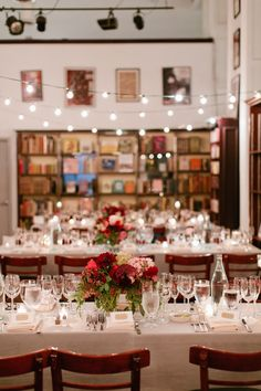Bookstore/book themed wedding