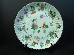 RARE ANTIQUE CHINESE FAMILLE ROSE PORCELAIN SCALLOPED EDGE PLATE TONGZHI MARK & PERIOD. 23 CM WIDE. PROVENANCE - POTOMAC MD ESTATE | Sold: USD $250