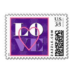 #Purple #LOVE #Heart #Wedding #Stamp http://www.zazzle.com/purple_love_heart_wedding_v05_stamp-172624840968517867