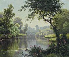 René Charles Edmond His  Le trou d'eau tranquille
