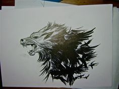 Wolf crows tattoo version 2 by THETROLLESQUE.deviantart.com on @deviantART                                                                                                                                                      Mais