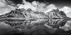 Vestrahorn reflection in black by Etienne Ruff - Photo 150337091 - 500px