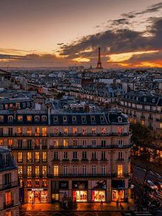 Atardecer parisino...