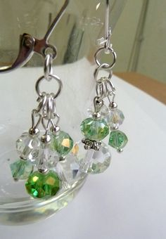 St Paddy Crystal Dangle Earrings by ArtBoxCreations on Etsy, $5.50
