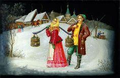 палехская миниатюра картинки для декупажа три девицы: 14 тыс изображений найдено в Яндекс.Картинках