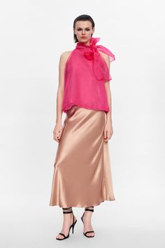 SATIN SKIRT - View all-SKIRTS-WOMAN-SALE | ZARA Australia
