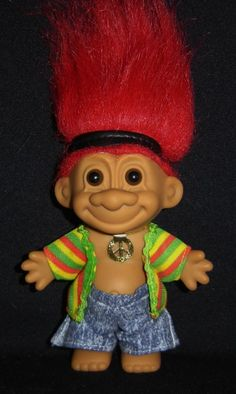 """5/"""" Russ Troll Doll WAITER NEW IN ORIGINAL WRAPPER Very Rare -LAST OF COLOR"""