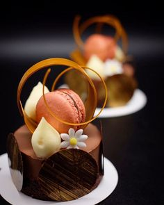 "4,771 Likes, 41 Comments - Antonio Bachour (@bachour1234) on Instagram: ""Cocoa streusel , chocolate cremeux , passion fruit meringue , chocolate macaron , Petit Gateaux for…"""
