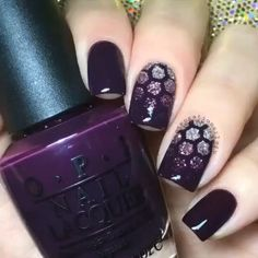 Lookin' pretty with plum  and fabulous with honeycomb! Mani by @sensationails4u!  Tag someone who loves purple! - Honeycomb #NailVinyls  www.snailvinyls.com