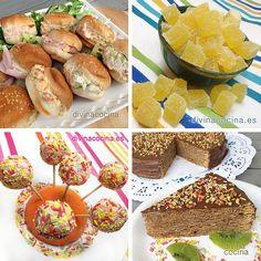 Aquí tienes una selección de platillos dulces y salados y muchas recetas para fiestas infantiles con las que sorprender a los peques y a los mayores.