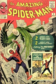 Amazing Spider-Man # 2 , May 1963 , Marvel Comics Vol 1 1963 On the cover : Spider-Man [ Peter Parker ] ; the Vulture [ Adrian Toomes ] Amazing Spiderman, Amazing Spider Man Comic, Marvel Dc Comics, Bd Comics, Silver Age Comics, Univers Marvel, Comic Book Artists, Comic Books Art, Comic Art