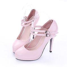 los tacones altos de charol superior cerrado dedos de los pies de zapatos de moda (0985-hg026-4) – EUR € 82.49