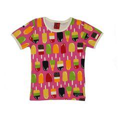 Villervalla barnkläder - t-shirt s/s RASPBERRY