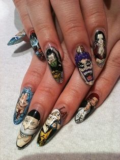 Anime Art Nail. One Piece.