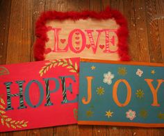 Make your own 3-dimensional inspirational wall art for your bedroom with plywood, paint, stencils and all kinds of crafty decorations, such as ribbon and rhinestones! This project was inspired by the Good Day Wood Block project found on the Joann's website.