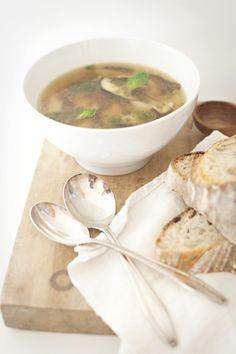 healthy recipe: white bean and shitake mushroom soup