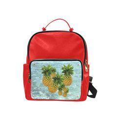 Pineapples Campus backpack/Large. #FREEShipping #artsadd #lbackpacks #fruits