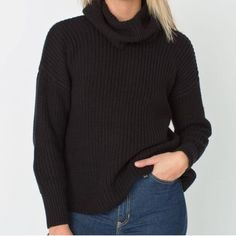 Oversized Turtleneck Sweater Super comfortable. Sewed at the bottom due to a loose thread  good condition otherwise. American Apparel Sweaters