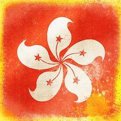 Hong Kong Flag Art - Hong Kong China flag by Setsiri Silapasuwanchai