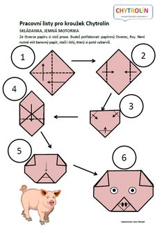 Červený klíček :: e-Chytrolín Origami, Preschool, Kids Rugs, Cards, Animals, Games, Thoughts, Animales, Kid Friendly Rugs