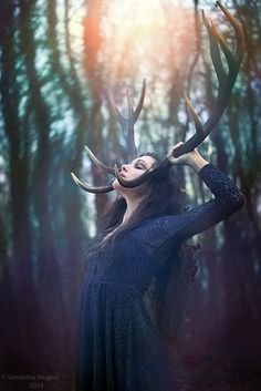 Stag and Elk rank high on many animal totems. They are also primary contributors to much lore, divinity and Magick. Wicca, Magick, Witchcraft, Photomontage, Jandy Nelson, Fantasy Photography, Color Photography, Warrior Princess, Photoshoot Inspiration