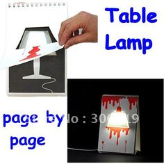 H334 New DIY USB Creative Page By Page Modern LED Desk Table Lamp Free  Shipping On