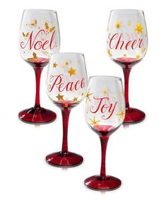 Christmas wine glass set
