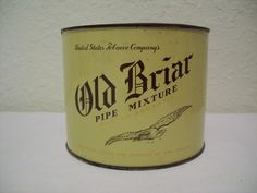 Old Briar Pipe Mixture Vintage Tin - United States Tobacco Company, Virginia