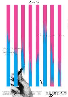 Japanese Poster: Music Illustration Awards. Atsushi Ishiguro (OUWN). 2015 Design Typography, Graphic Design Posters, Graphic Design Illustration, Graphic Design Inspiration, Web Design, Layout Design, Print Design, Psychedelic Art, Music Illustration