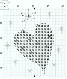 Cross-stitch Christmas Sachet Sets, part 4... Christmas Heart Sachet, Chart Page, Page 2/2d, PN-0145602: