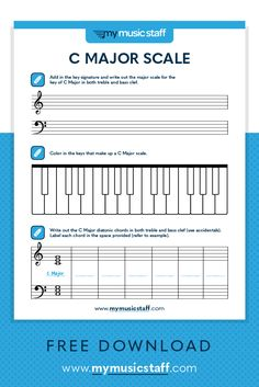 Adult Piano Keyboards This activity is all about the key of D Major! Students get practice writing key signatures, scales and chords in both treble and bass clef! Great for students of all ages, especially teens and adults. Piano Lessons, Music Lessons, Guitar Lessons, Guitar Tips, Singing Lessons, Singing Tips, Play To Learn, Learn To Read, D Flat Major