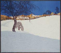 Schneelandschaft / Snow Landscape, Josef Stoitzner. Austrian (1884 - 1951)