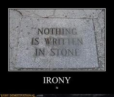 Irony | Climate change is the perfect subject for connoisseurs of irony.