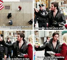 I knew you wouldn't let me rot in that cage. I've been in my fair share of brigs. But none as barbaric as that. They force-fed me something called bologna. -Hook